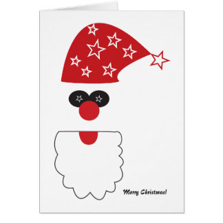 Funky Santa Holiday Card