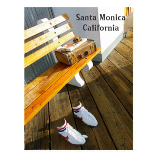 Funky Santa Monica Postcard! Postcard