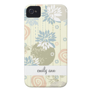 Funky Screen Print Flowers in Pastel Colors iPhone 4 Cover