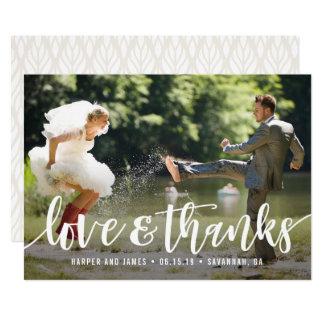Funky Script Wedding Thank You Photo Card