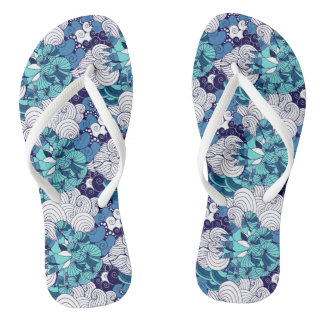 Funky Seashell Pattern Thongs