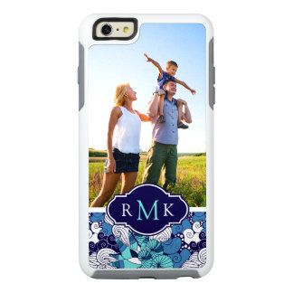 Funky Seashell Pattern| Your Photo & Monogram OtterBox iPhone 6/6s Plus Case