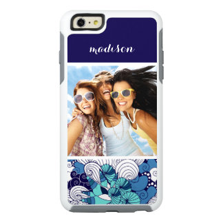Funky Seashell Pattern | Your Photo & Name OtterBox iPhone 6/6s Plus Case