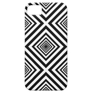 Funky Seventies Black White Squares Mosaic Pattern Case For The iPhone 5