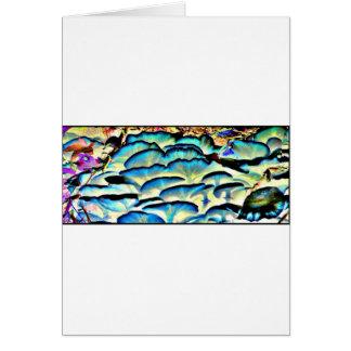 funky shiny mushrooms card