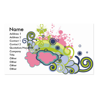 funky skies vector design business card templates