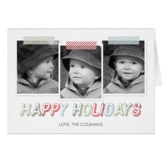 Funky Snapshots Holiday Photo Card