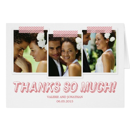 Funky Snapshots Thank You Card Greeting Card