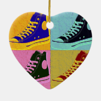 Funky Sneaker Ceramic Ornament