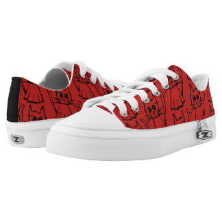 Funky sneakers cat red