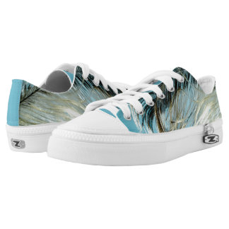 funky sneakers feather blue