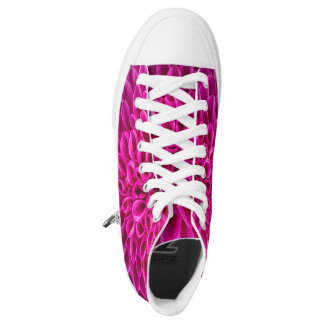 Funky Sneakters with Hot Pink Flowers Printed Shoes