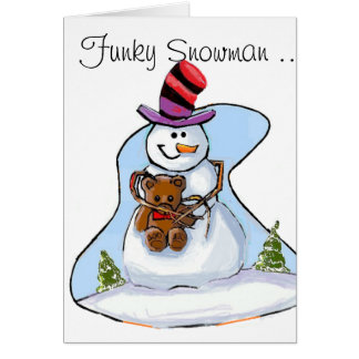 Funky Snowman Greeting Card