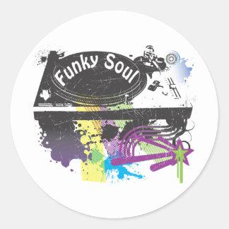 Funky Soul Round Sticker