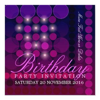 Funky Sparkle Disco Party Birthday Invitations