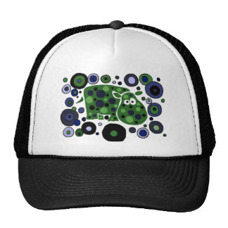 Funky Spotted Hippo Art Design Mesh Hats