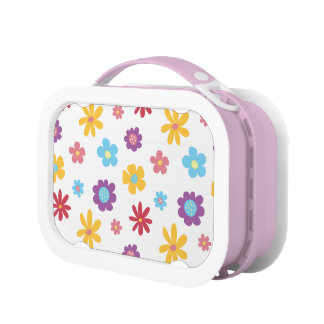 Funky Spring Flowers (light) Pattern Lunch Box