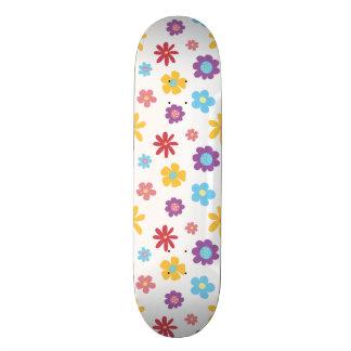 Funky Spring Flowers Pattern Skate Deck