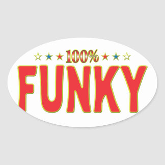Funky Star Tag Sticker
