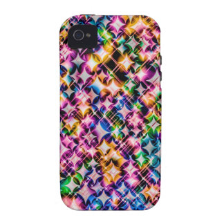 Funky Stars colorful Case-Mate iPhone 4 Cases