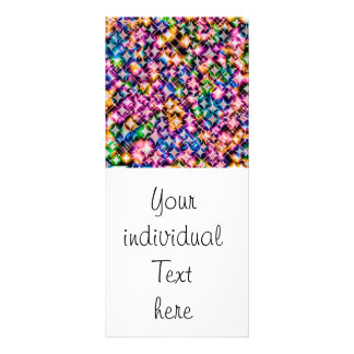 Funky Stars colorful Personalized Rack Card