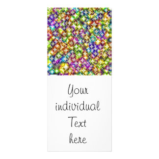 funky stars green personalized rack card