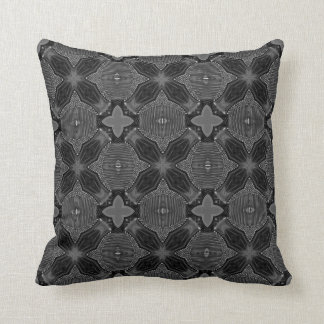 Funky Steampunk Metal Abstract Geometric Pattern Cushion