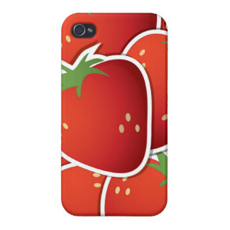 Funky strawberries iPhone 4/4S cases