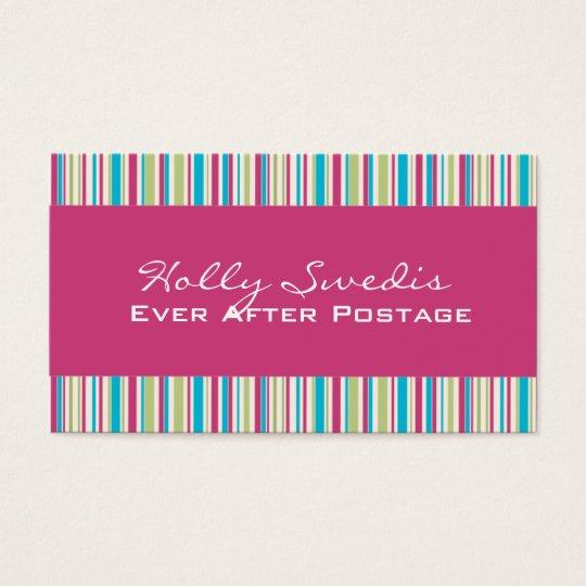 Funky Stripes Business Card : Zazzle