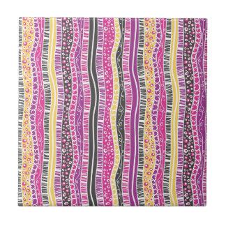 Funky Stripes Ceramic Tile