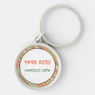 Funky Stripes ID tag Key Ring