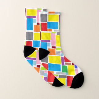 Funky Stylish Positive Vibes Colors Blocks Socks 1