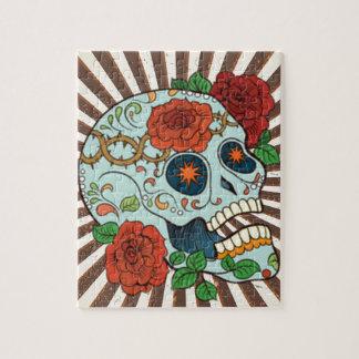 Funky Sugar Skulls Dia de los Muertos Puzzles