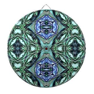 Funky Teal Lilac Artistic Pattern Dart Board