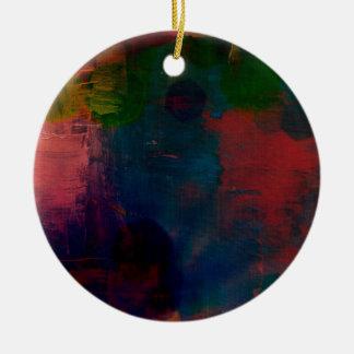 funky tie-dye  pillow ceramic ornament