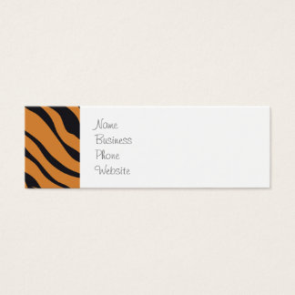 Funky Tiger Stripes Wild Animal Patterns Gifts Mini Business Card