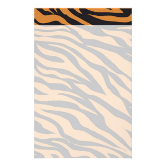 Funky Tiger Stripes Wild Animal Patterns Gifts Stationery