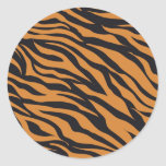 Funky Tiger Stripes Wild Animal Patterns Gifts Round Stickers