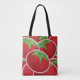 Funky tomato tote bag