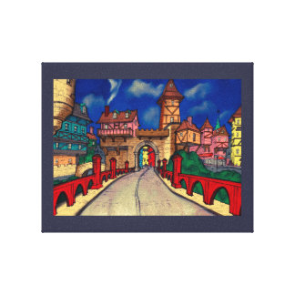 Funky Town Canvas Print