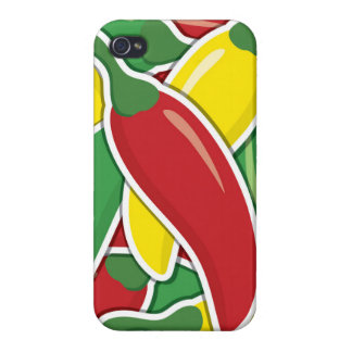 Funky traffic light chilli peppers iPhone 4 cover