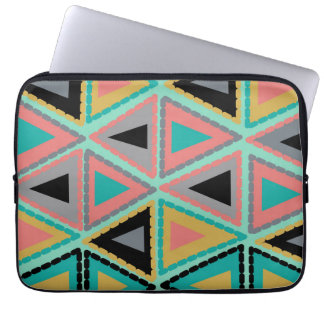 funky triangles laptop sleeve