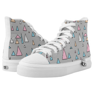 Funky Triangles Pastel Colors Shoes Printed Shoes
