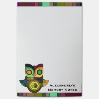 Funky Tribal Aztec Owl Memory Notes