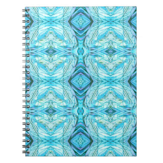 Funky Turquoise Modern Pattern Notebooks