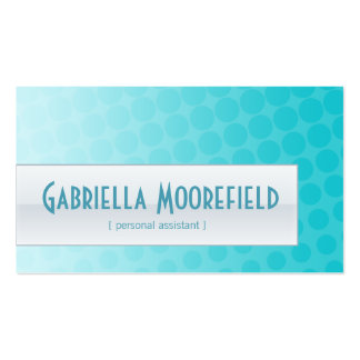 Funky Urban Aqua Personal Assistant Business Cards