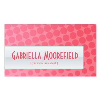 Funky Urban Pink Personal Assistant Business Cards