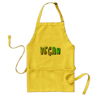 Funky Vegan With Shading Standard Apron