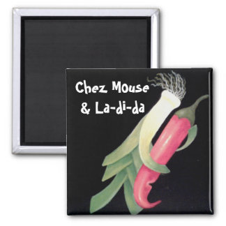 Funky Veggie Personalized Magnet