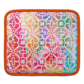 Funky very colorful pattern iPad sleeve